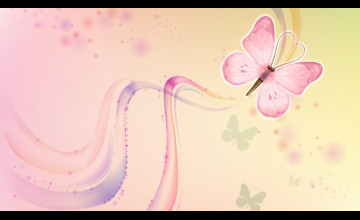 Pink Butterfly Wallpaper Flower