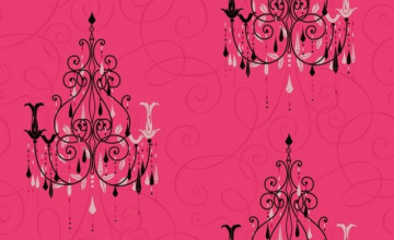 Pink Chandelier Wallpaper