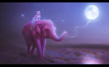 Pink Elephant Wallpaper