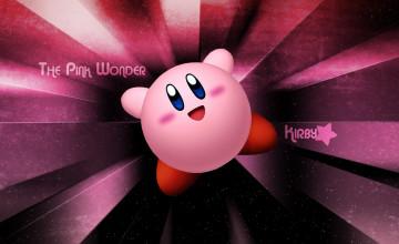 Pink Kirby Wallpaper