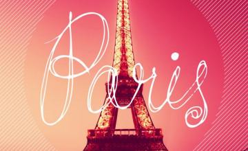 Pink Paris Wallpaper
