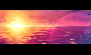 Pink Sunset Wallpaper HD