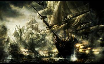 Pirate Ships Wallpaper