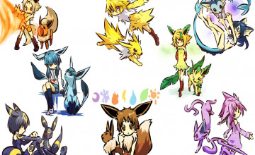 Pokemon Eevee Evolutions Wallpaper