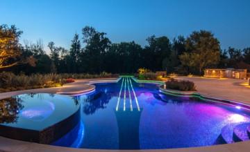 Poolside Night HD Wallpaper