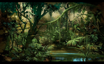 Prehistoric Jungle Wallpaper