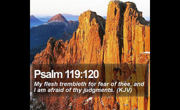 Psalm 119:120 Wallpapers