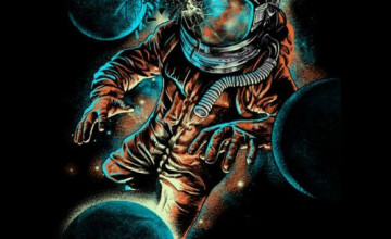 Psychedelic Astronaut Wallpapers