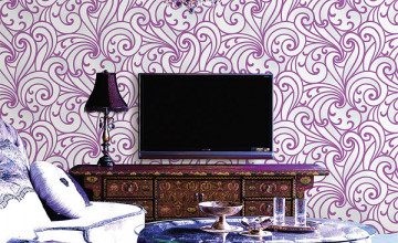 Purple Removable Wallpaper