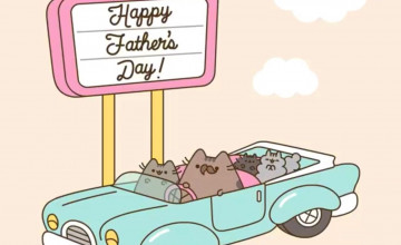Pusheen Father's Day Wallpapers