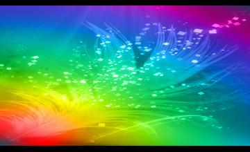 Rainbow Feather Wallpaper