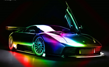 Rainbow Lamborghini Wallpapers Wallpapersafari