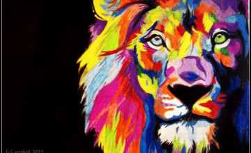 Rainbow Lion Wallpaper