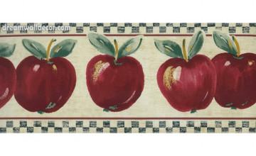Red Apple Wallpaper Border