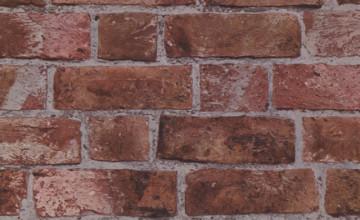 Red Brick Textured Wallpaper