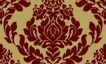 Red Velvet Damask Wallpaper