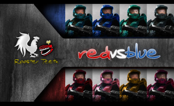 Red vs Blue Computer Wallpaper