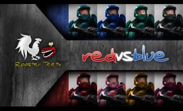 Red vs Blue Desktop Wallpaper
