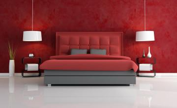 Red Wallpaper for Bedroom