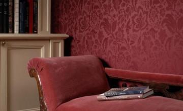 Red Wallpaper for Living Room