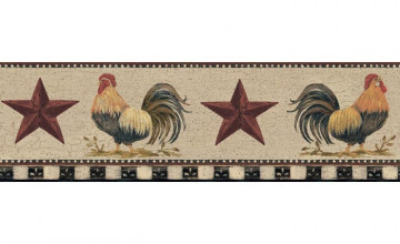 Rooster Chicken Wallpaper Border