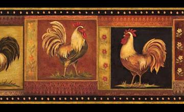 Rooster Wallpaper Border Wallcovering