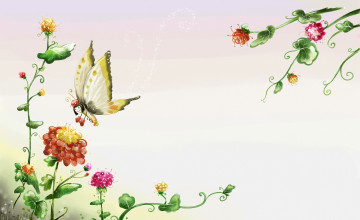 Roses and Butterfly Wallpaper Border
