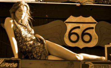 Route 66 Wallpaper Vintage