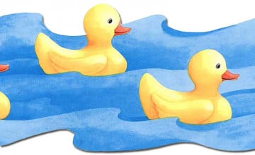 Rubber Duck Wallpaper Border