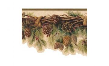 Rustic Lodge Wallpaper Borders
