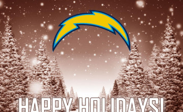 San Diego Chargers Christmas Wallpaper