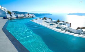 Santorini Hotels Wallpaper