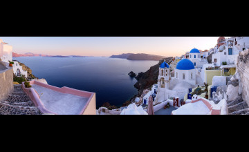 Santorini Wallpaper 3840X1200