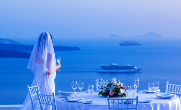 Santorini Wedding Wallpaper
