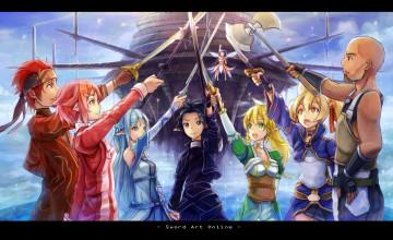 Sao Swords Wallpaper