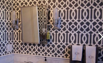 Schumacher Imperial Trellis Wallpaper