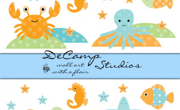 Sea Animals Wallpaper Border