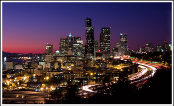 Seattle at Night Wallpaper
