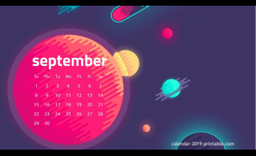 September 2019 Calendar Wallpapers