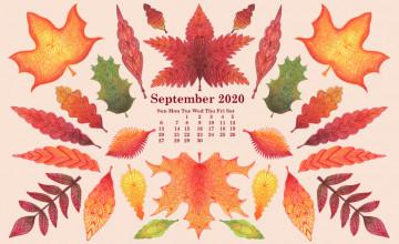 September 2020 Calendar Wallpapers