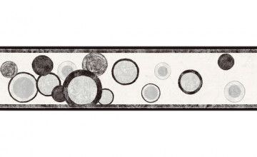 Silver and Black Wallpaper Border