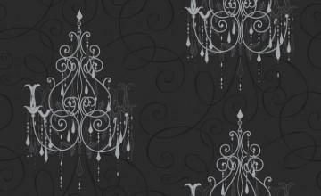 Silver Chandelier Wallpaper