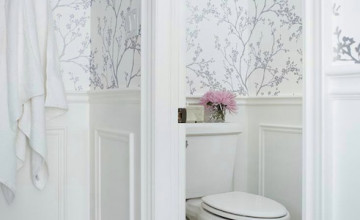 Silver Wallpaper for Bathroom