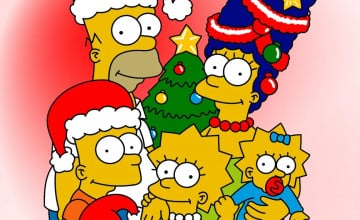 Simpsons Christmas Wallpaper