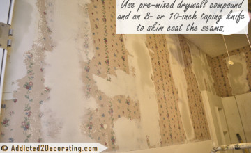 Skim Coating Over Wallpaper