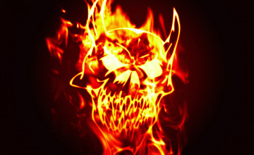 Skull On Fire Wallpapers