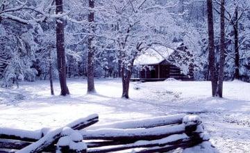 Smoky Mountain Winter Scenes Wallpaper