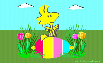 Snoopy Easter Wallpaper for Computer