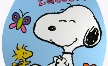 Snoopy Easter Wallpaper for Desktop