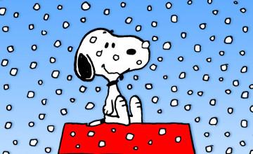 Snoopy Winter Wallpaper